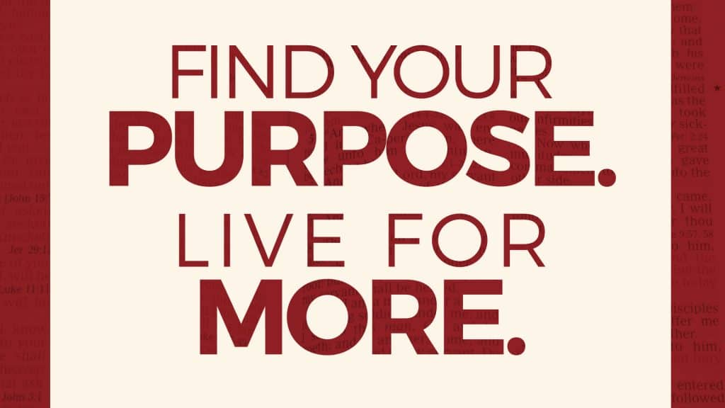 Find Your Purpose Live For More - Main Title